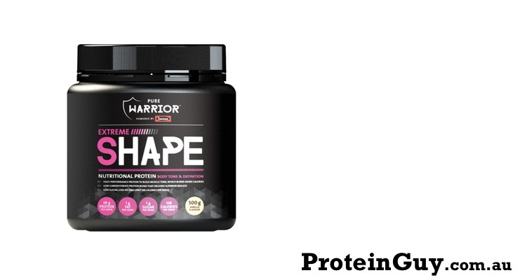 Extreme Shape by Pure Warrior 500g Vanilla Powered by Swisse