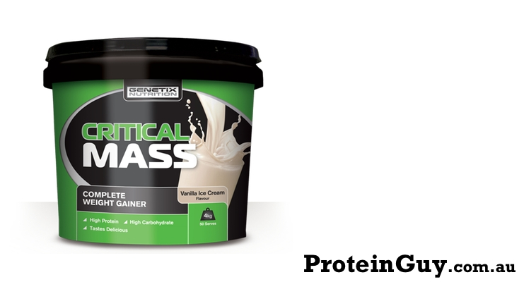Critical Mass by Genetix Nutrition 4kg Vanilla Ice Cream