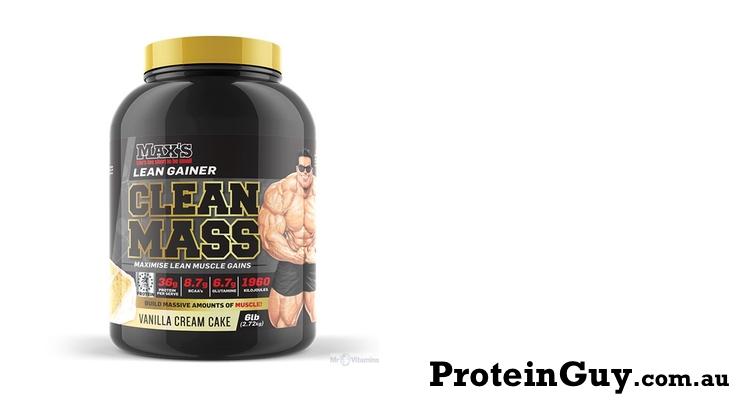 Clean MASS by Maxs Vanilla Cream Cake 6lb 2.72kg