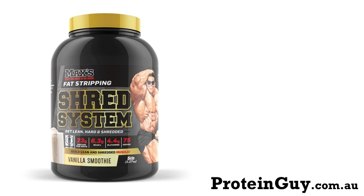 Shred System by Maxs 5lb 2.27kg Vanilla Smoothie