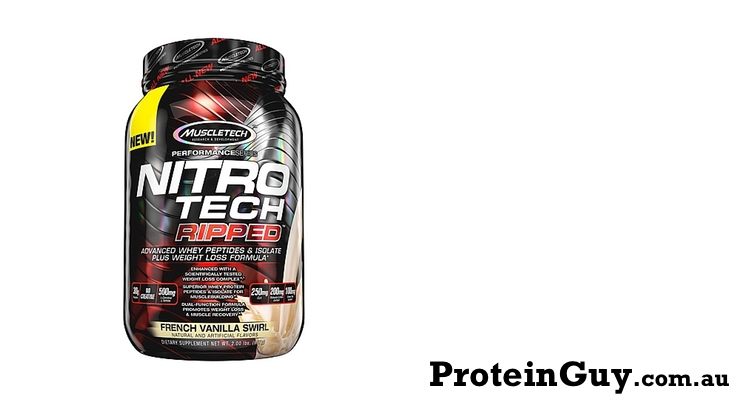 Nitro-Tech Ripped by MuscleTech French Vanilla Swirl