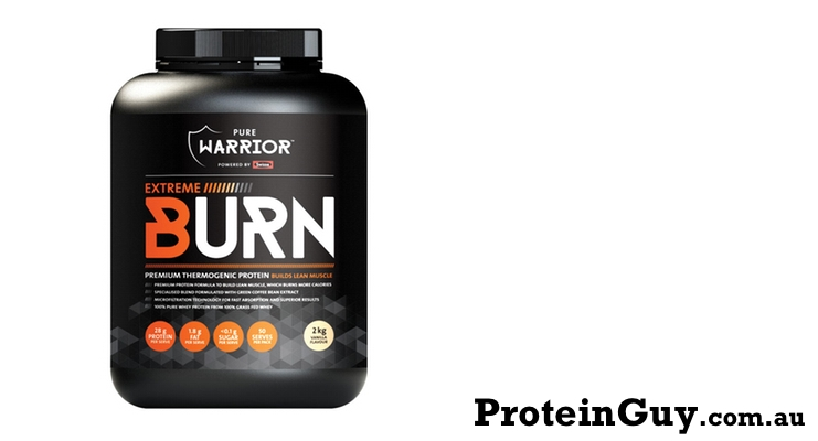 Extreme Burn by Pure Warrior 2kg Vanilla Powered by Swisse