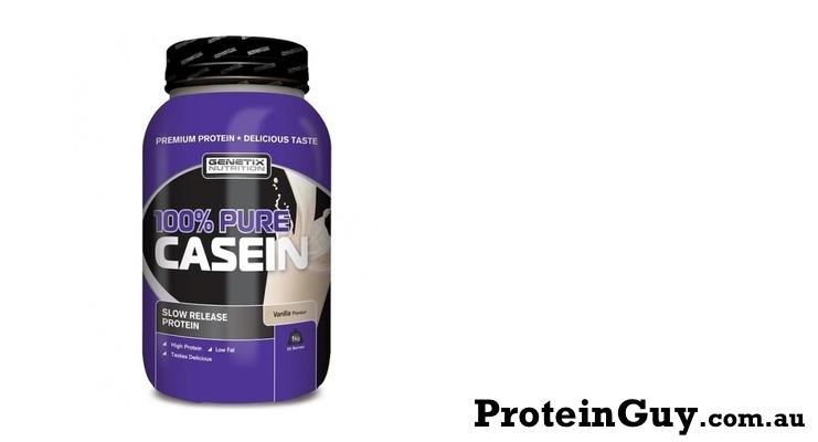 100% Pure Casein by Genetix Nutrition 1kg Vanilla