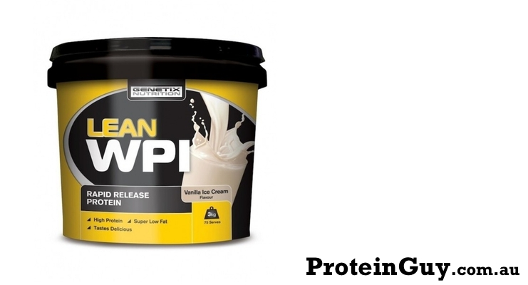 Lean WPI by Genetix Nutrition 3kg Vanilla Ice Cream