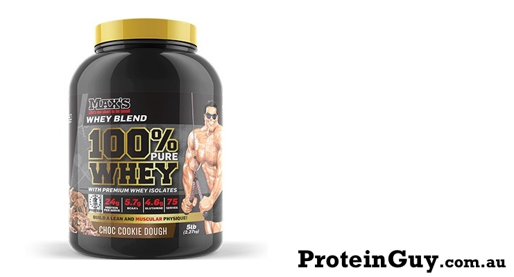 100% Pure Whey Protein by Maxs 5lb Choc Cookie Dough
