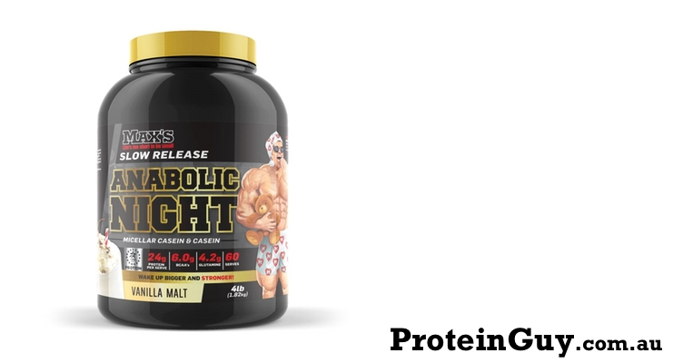 Anabolic Night by Maxs Vanilla Malt 4lb 1.82kg