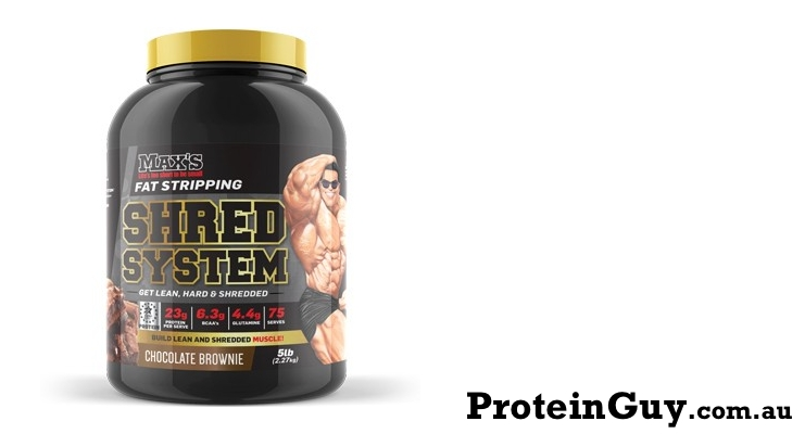 Shred System by Maxs 5lb 2.27kg Chocolate Brownie