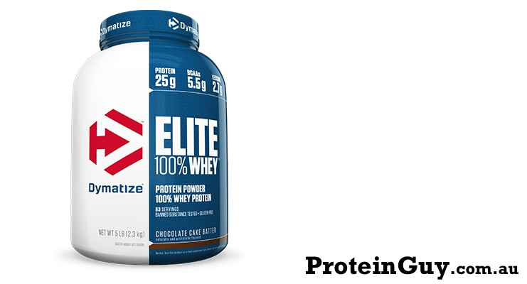 Elite 100% Whey by Dymatize 2.3kg 5lb Chocolate Cake Batter